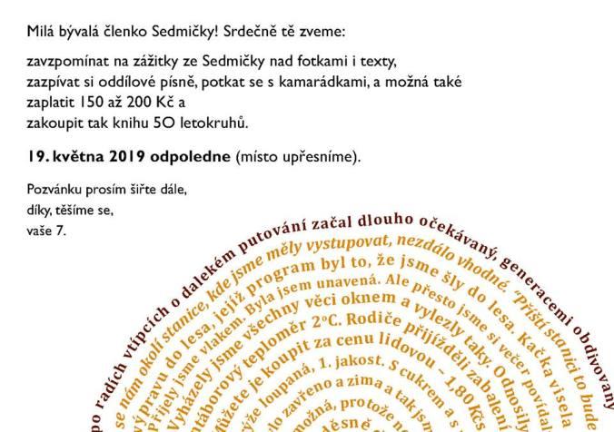 Pozvánka 50 letokruhů